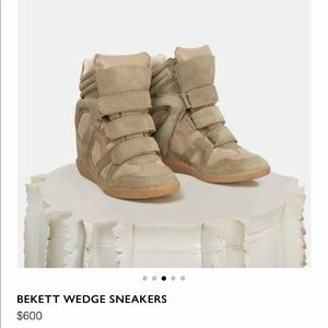 Isabel Marant Over Bekett Wedge Sneaker